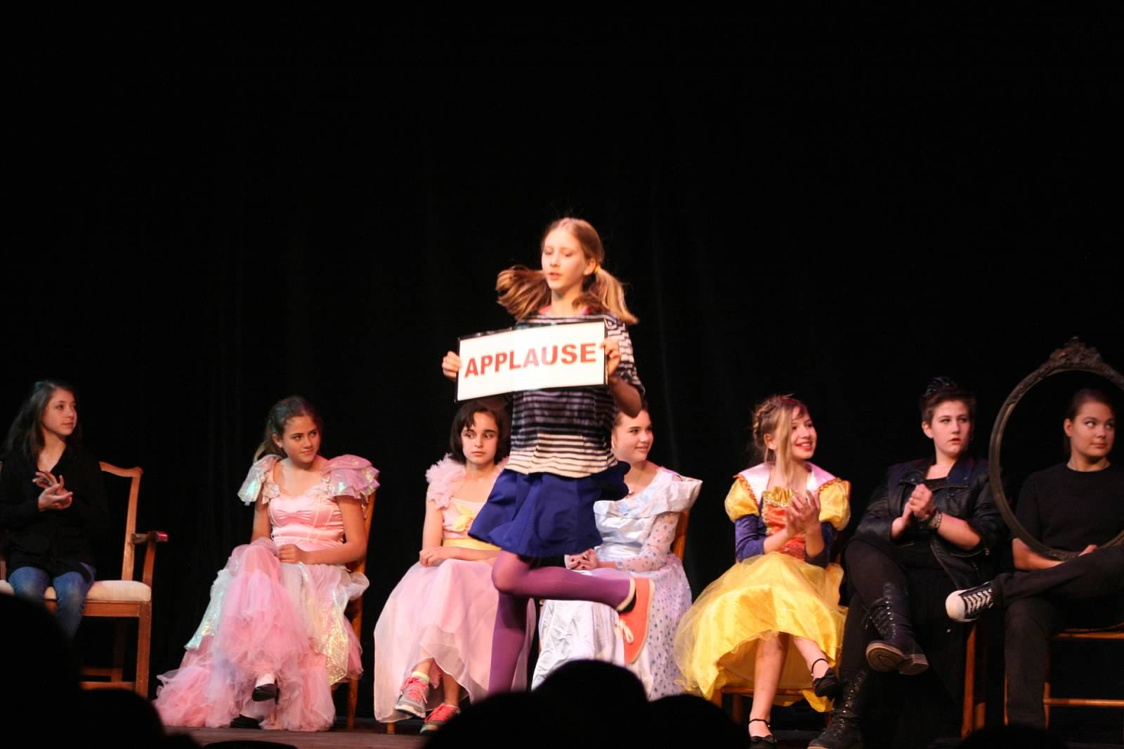 Girls perform in musical