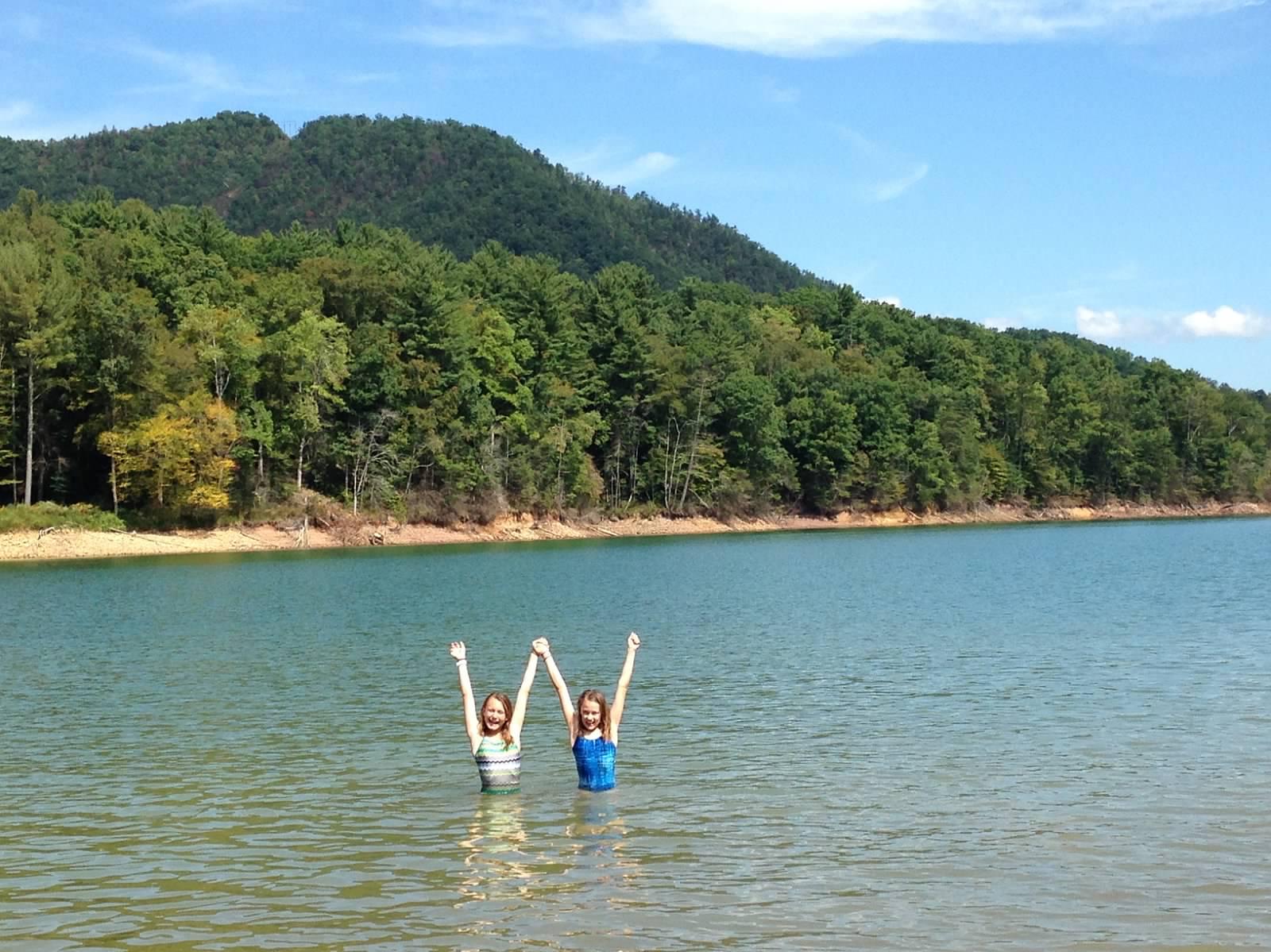 Having fun at the lake