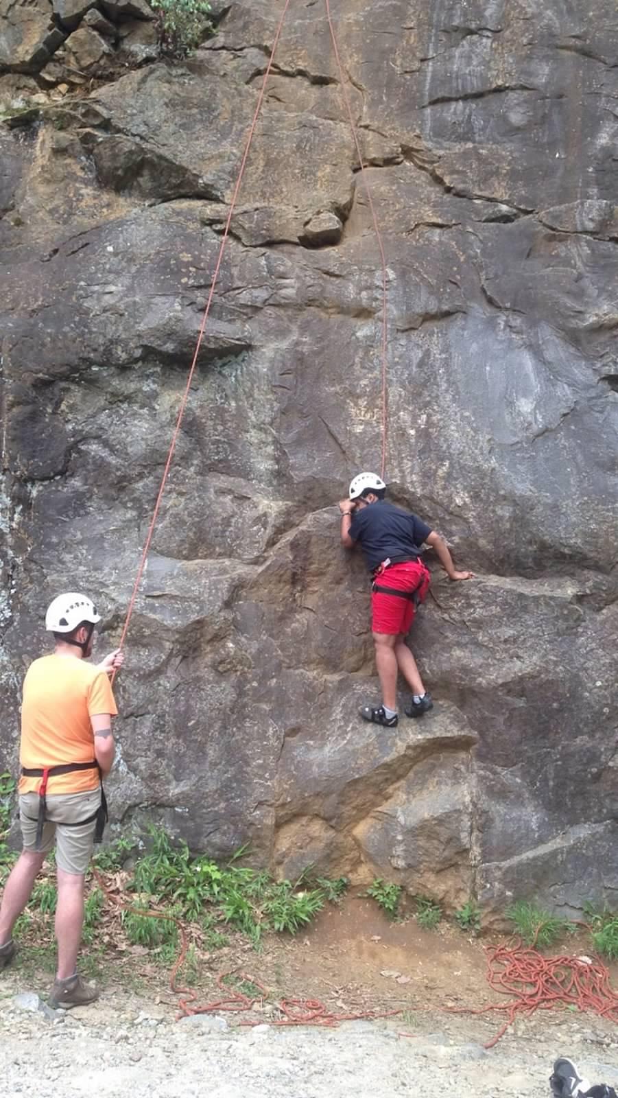 A rock climbing adventure